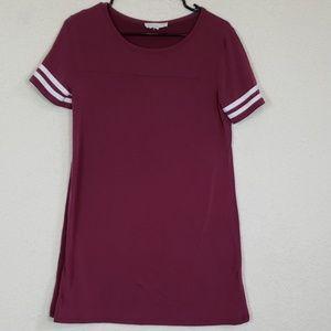 Pink republic marron tshirt dress